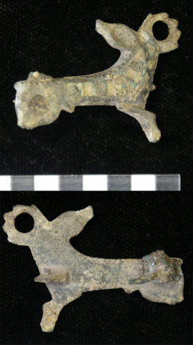 NMS-365796: Romano-British stag brooch