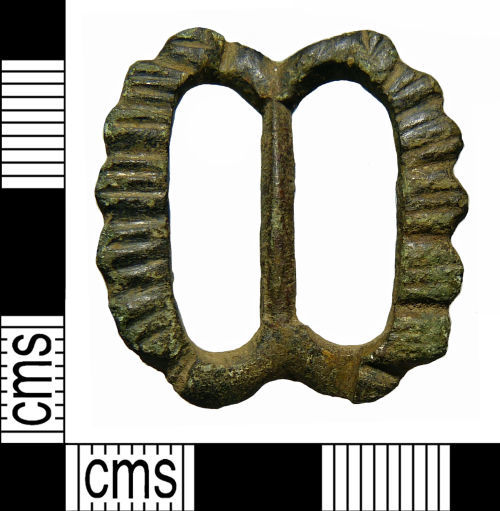 NMS-2974F8: Medieval to Post Medieval double loop buckle