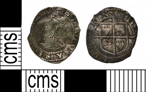 NMS-3043B0: Post Medieval coin: Penny of Elizabeth I