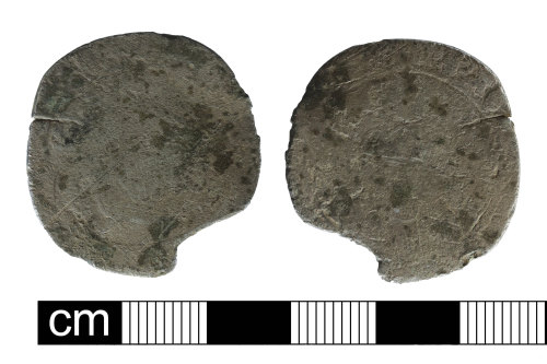 NMS-910099: Post medieval coin: probable silver testoon of Henry VIII