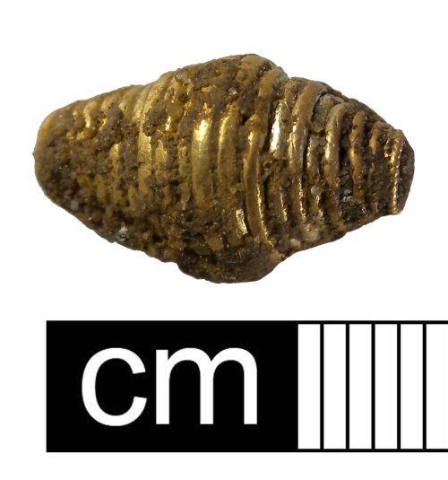 NMS-E95041: Gold spacer bead. Catalogue Number 2