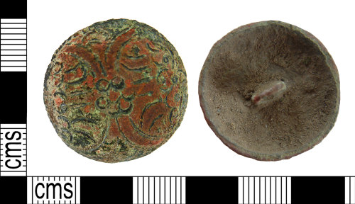 NMS-17F06A: Post Medieval button or linked fastener