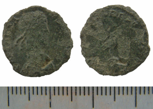 NMS-542F67: Roman nummus probably of Constans