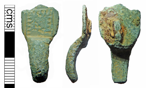 A resized image of Fragment of an early Saxon small long brooch