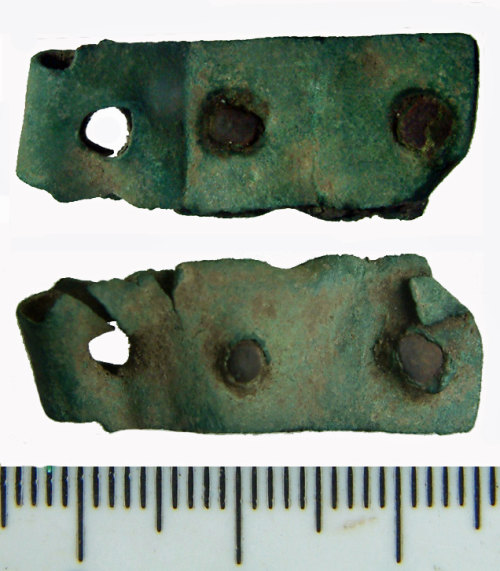 NMS-909DC8: Medieval buckle or clasp plate