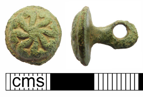 NMS-B043D9: Post Medieval button
