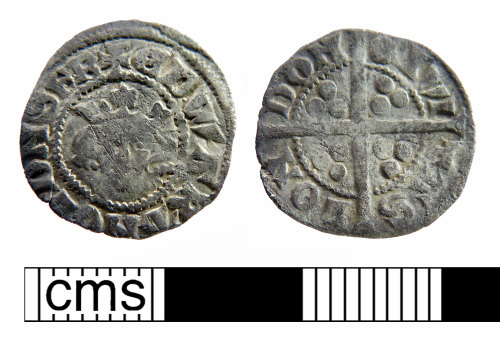 NMS-84D704: Medieval coin: long cross penny