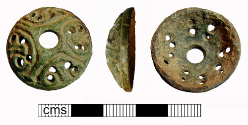 NMS-593129: Medieval composite swivel fragment