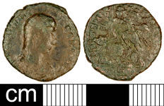 A resized image of Roman Coin: Nummus of Constantius Gallus