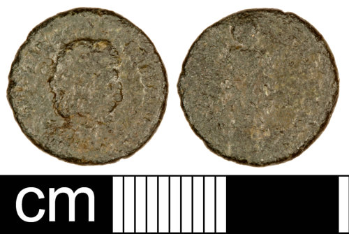 SOM-00D1C6: Roman Coin: Nummus of the House of Theodosius (Probably)