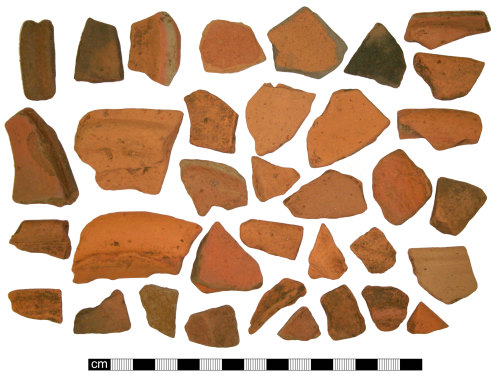 A resized image of Roman Oxfordshire Red/Brown Slipped Ware Vessel