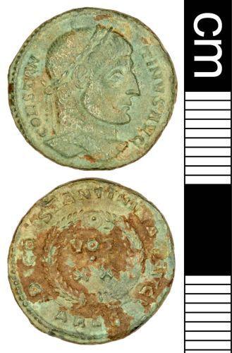 SOMDOR-1F84B2: Roman Coin: Nummus of Constantine I