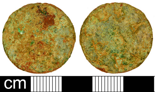 SOM-2310D7: Roman Coin: Dupondius or As of an Uncertain Emperor