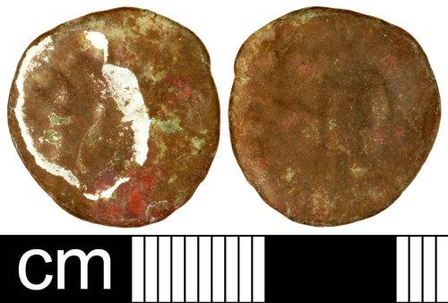 SOM-33F6A4: Roman Coin: Radiate of Tetricus I or Tetricus II