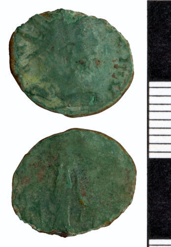 SOMDOR-4C9332: Roman Coin: Radiate of Tetricus I (Possibly)