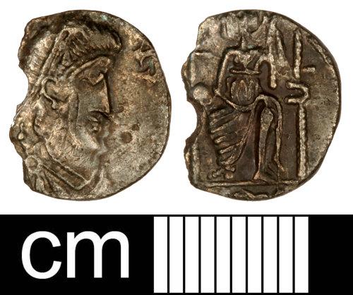 SOM-8C4516: Roman Coin: Contemporary Copy of a Siliqua of an Uncertain Emperor