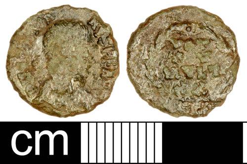 SOM-8F3E42: Roman Coin: Nummus of Gratian