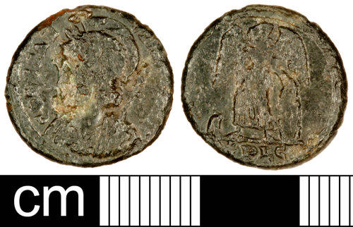 SOM-9666D5: Roman Coin: Nummus of the House of Constantine
