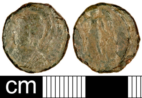 SOM-968E65: Roman Coin: Nummus of the House of Constantine