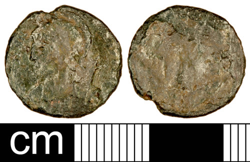 SOM-969BB3: Roman Coin: Nummus of the House of Constantine