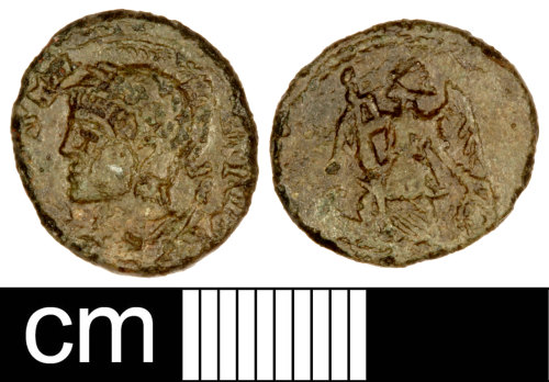 SOM-970604: Roman Coin: Contemporary Copy (Probably)of a Nummus of the House of Constantine