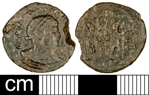 SOM-9718B2: Roman Coin: Nummus of Constantine I or Constantine II
