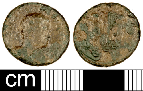 SOM-974725: Roman Coin: Nummus of the House of Constantine