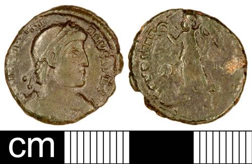 SOM-A88A05: Roman Coin: Nummus of Valentinian I