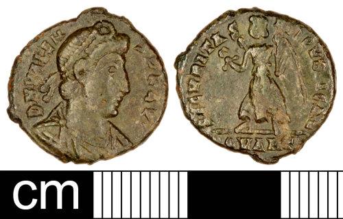 SOM-A8B8C3: Roman Coin: Nummus of Valens
