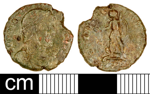SOM-A8EB52: Roman Coin: Nummus of Valens