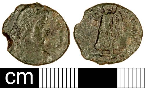 SOM-A92935: Roman Coin: Nummus of Valens