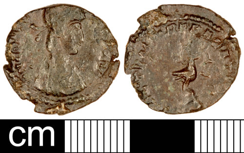 A resized image of Roman Coin: Nummus of Constantius II or Constans