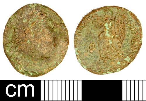 SOM-B98EC6: Roman Coin: Nummus of Valens