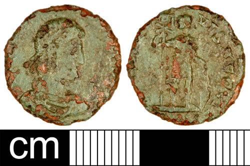 SOM-B9BA95: Roman Coin: Nummus of Gratian
