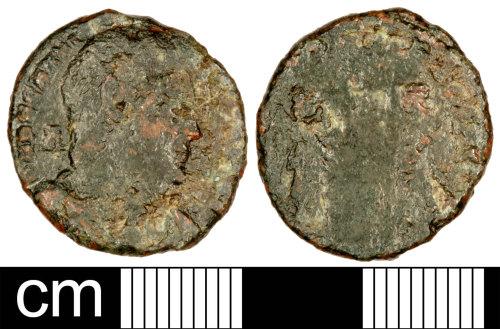 SOM-BA2060: Roman Coin: Nummus of Magnentius