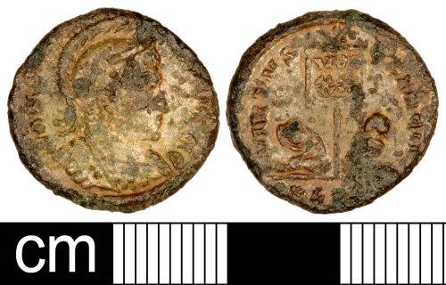 SOM-BA57E3: Roman Coin: Nummus of the House of Constantine