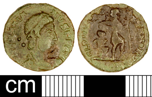 SOM-BC3355: Roman Coin: Nummus of Gratian