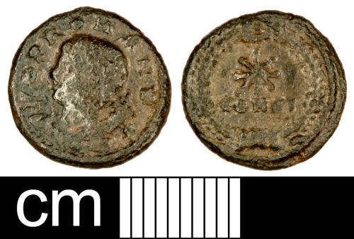 SOM-BC7B11: Roman Coin: Nummus of the House of Constantine