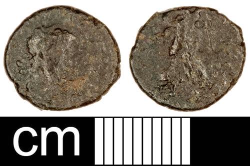 SOM-BCDAF6: Roman Coin: Nummus of the House of Theodosius