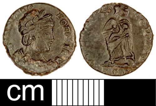 SOM-BCFA34: Roman Coin: Nummus of Theodora