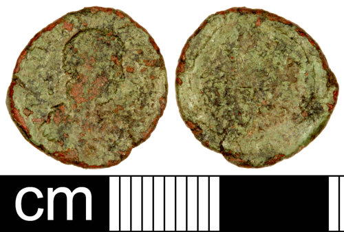 A resized image of Roman Coin: Nummus of an Uncertain Emperor