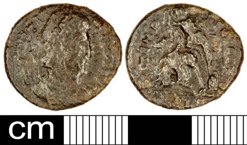 SOM-C026E7: Roman Coin: Nummus of Constantius II