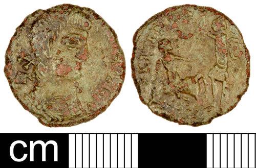 SOM-C095C4: Roman Coin: Nummus of Constantius II
