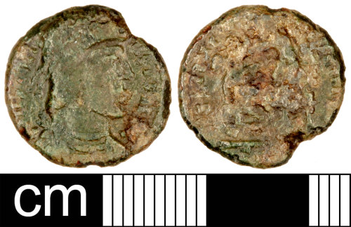 SOM-C0CCF8: Roman Coin: Contemporary Copy (Possibly) of a Nummus of the House of Constantine