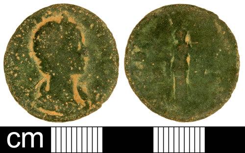 SOM-CE12D5: Roman Coin: Contemporary Copy of an As of Julia Mamaea