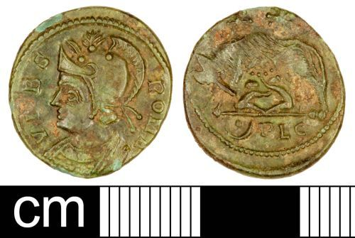 SOM-DAFD01: Roman Coin: Nummus of the House of Constantine