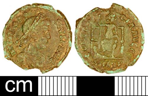 SOM-E6C117: Roman Coin: Nummus of Theodosius I