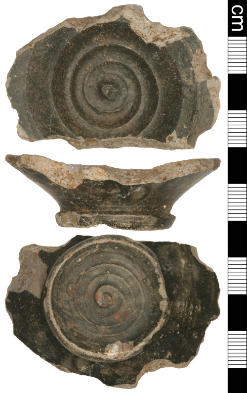 A resized image of Roman New Forest Slipped Ware Vessel