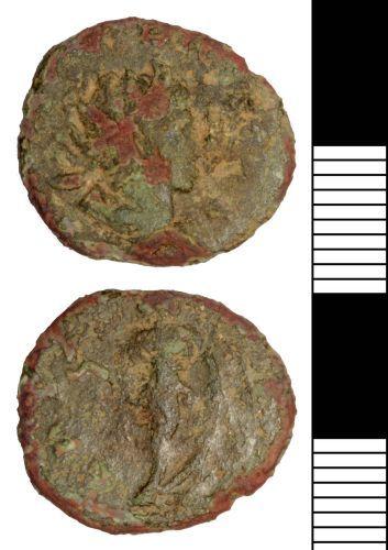 SOMDOR-EDA108: Roman Coin: Radiate of Tetricus II
