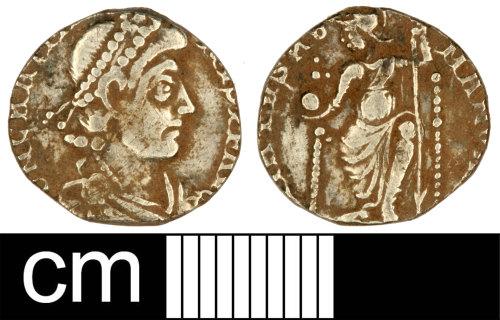 SOM-F71D03: Roman Coin: Siliqua of Gratian